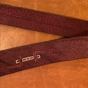 Other - Vintage 1950s burgundy mcm design skinny tie